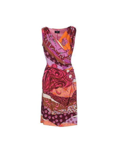 Clips   Женское Фиолетовое Платье До Колена