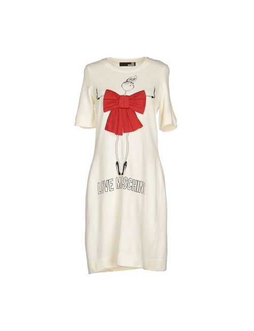 Love Moschino | Женское Слоновая Костящее Короткое Платье
