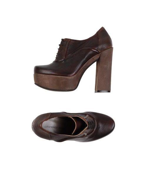 Leonardo Iachini | Женская Коричневая Обувь На Шнурках