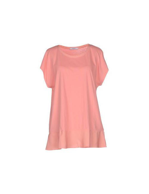 Liu •Jo Jeans   Женская Розовая Футболка