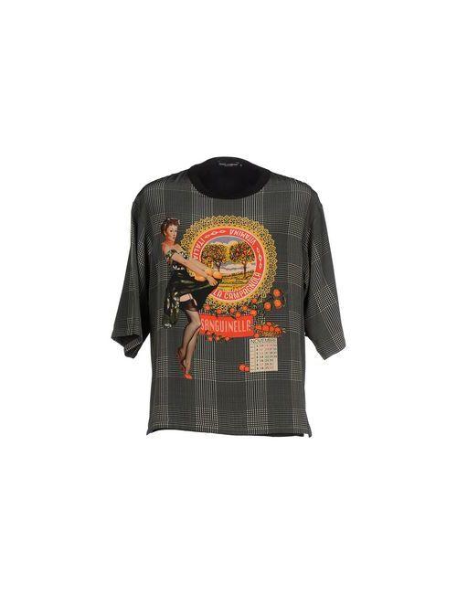 Dolce & Gabbana   Мужская Зелёная Футболка