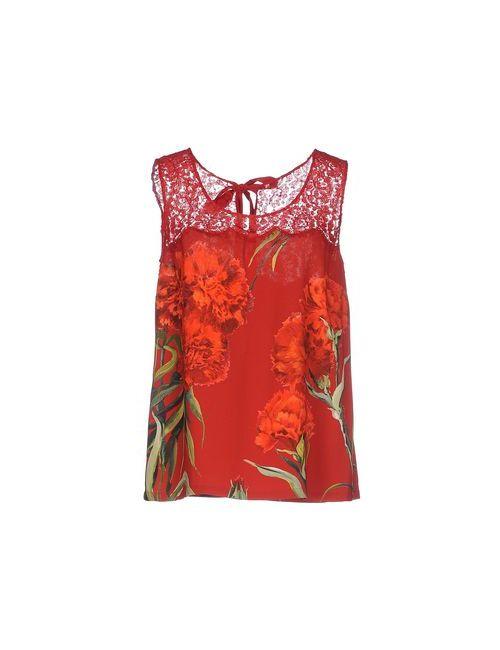 Dolce & Gabbana | Мужская Красная Майка