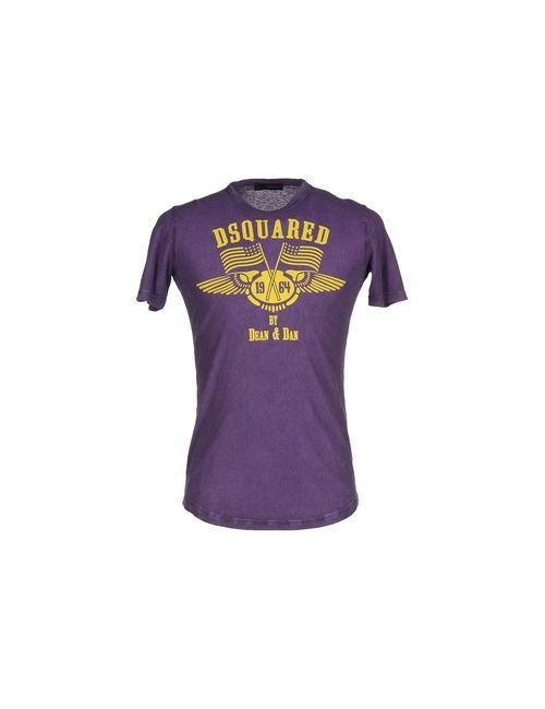Dsquared2 | Мужская Фиолетовая Футболка