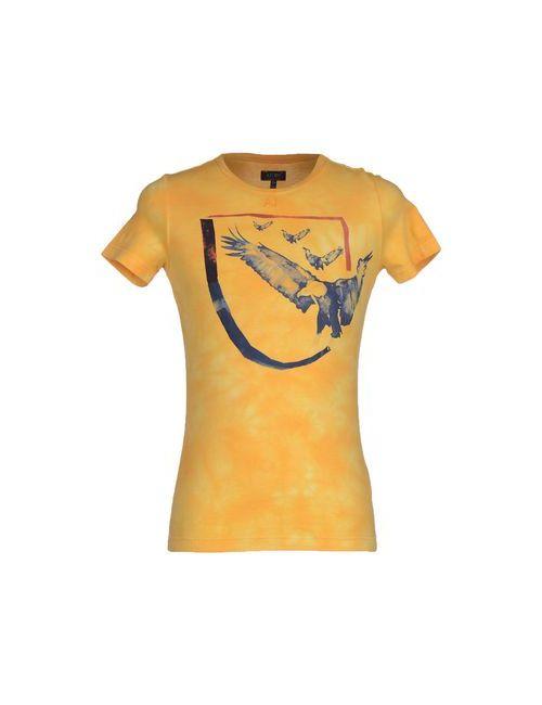 ARMANI JEANS | Мужская Жёлтая Футболка