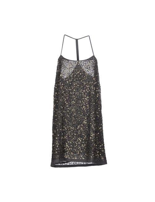SUPERDRY BLACK LABEL | Женское Серое Короткое Платье