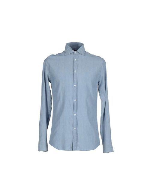 Deperlu | Мужская Синяя Джинсовая Рубашка