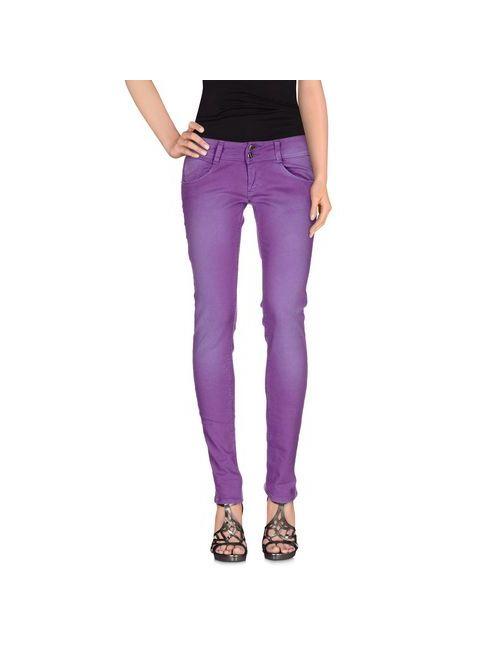 Met In Jeans | Женские Фиолетовые Джинсовые Брюки