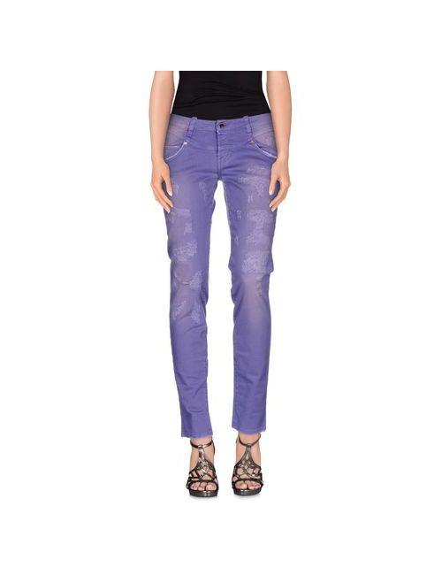 Met In Jeans | Женские Розовато-Лиловые Джинсовые Брюки