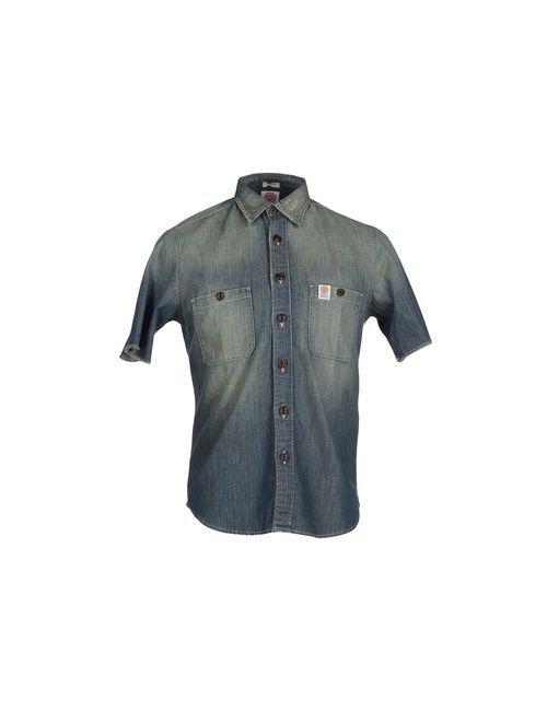 Franklin & Marshall | Мужская Синяя Джинсовая Рубашка