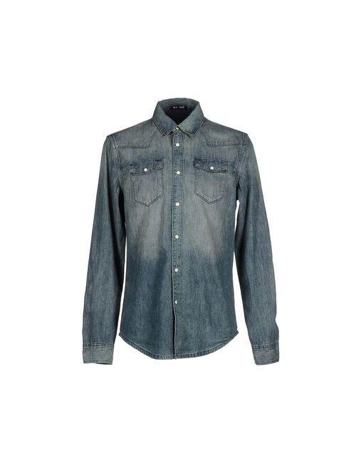 Blk Dnm | Мужская Синяя Джинсовая Рубашка