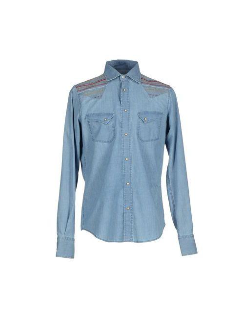 Pence | Мужская Синяя Джинсовая Рубашка