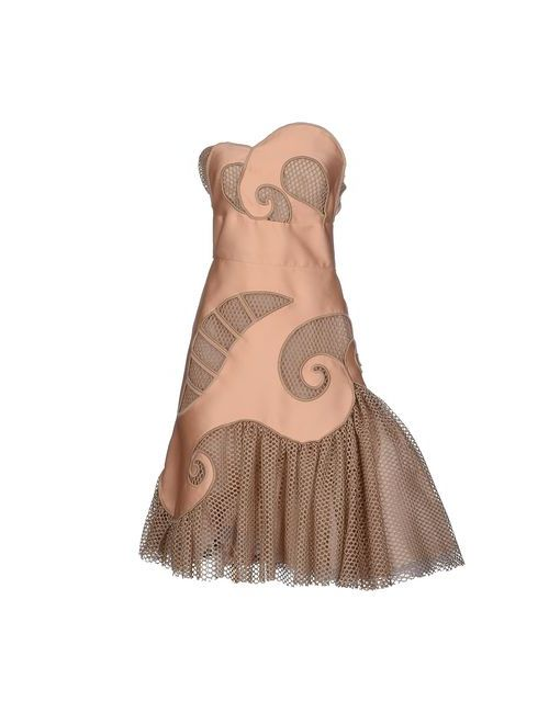Viktor & Rolf | Женское Телесное Платье До Колена