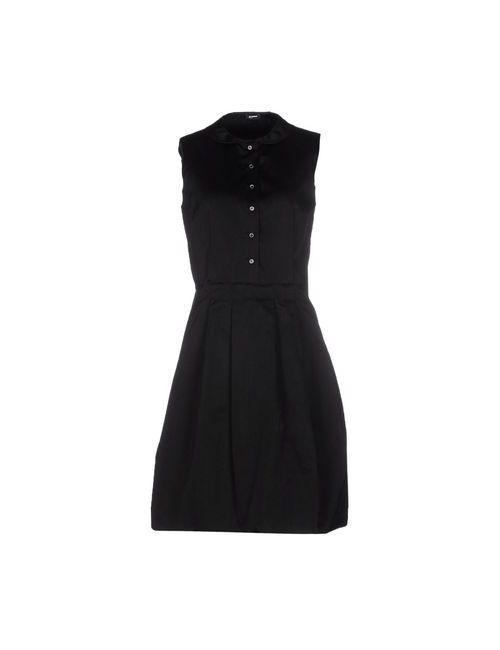 Jil Sander Navy | Женское Чёрное Короткое Платье