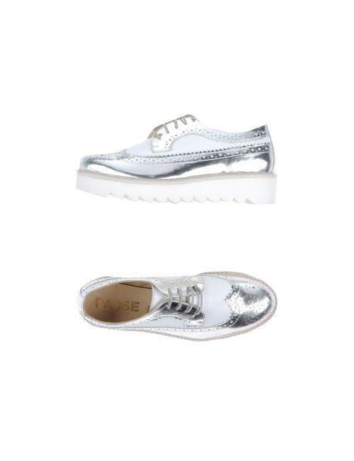 Mr. Wolf | Женская Серебристая Обувь На Шнурках
