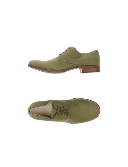 01000010 By Boccaccini | Мужская Зелёная Обувь На Шнурках
