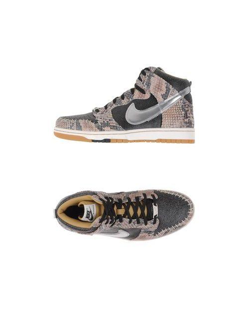 Nike | Мужские Серые Высокие Кеды И Кроссовки