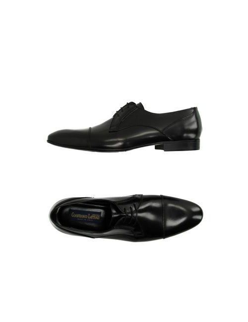 Gianfranco Lattanzi | Мужская Чёрная Обувь На Шнурках