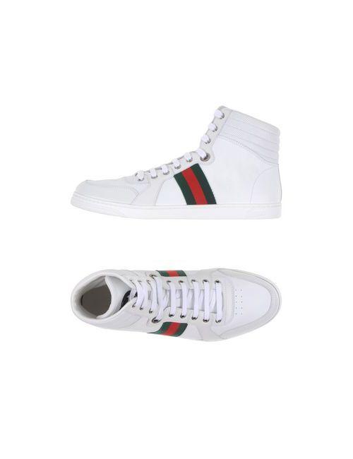 Gucci | Женские Белые Высокие Кеды И Кроссовки