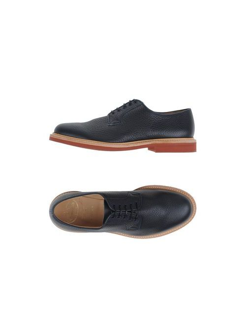 Church'S | Мужская Синяя Обувь На Шнурках