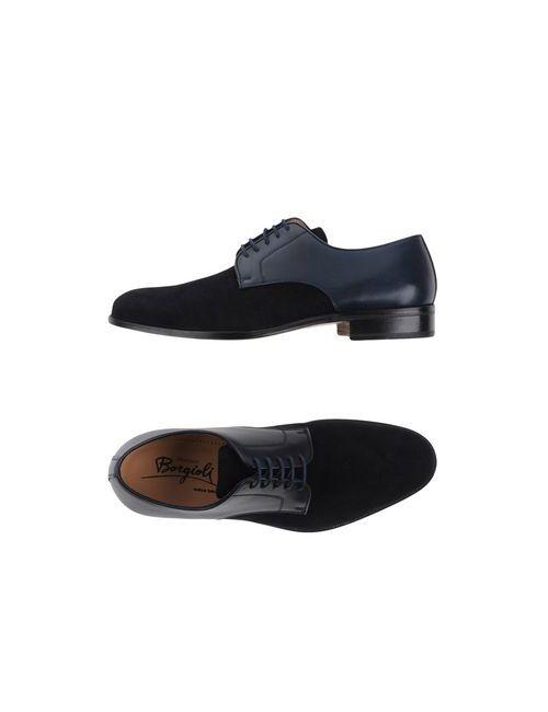 Borgioli | Мужская Синяя Обувь На Шнурках
