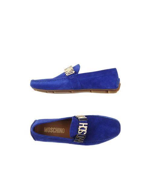 Moschino | Мужские Синие Мокасины