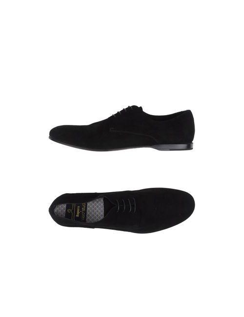 Raparo   Мужская Чёрная Обувь На Шнурках