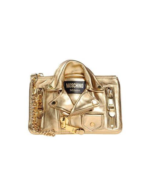 Moschino | Женская Платиновая Сумка На Руку
