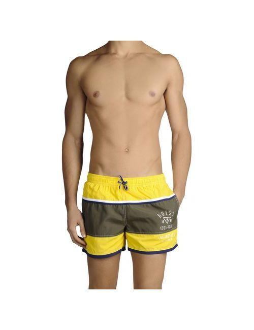 Guess | Мужские Жёлтые Шорты Для Плавания
