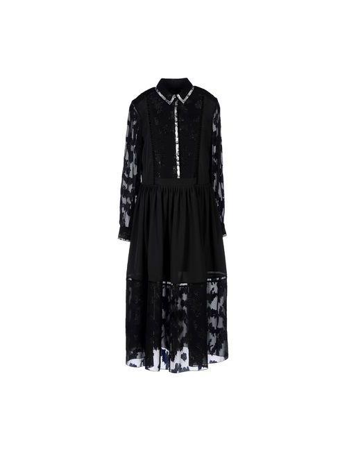 Preen | Женское Чёрное Длинное Платье