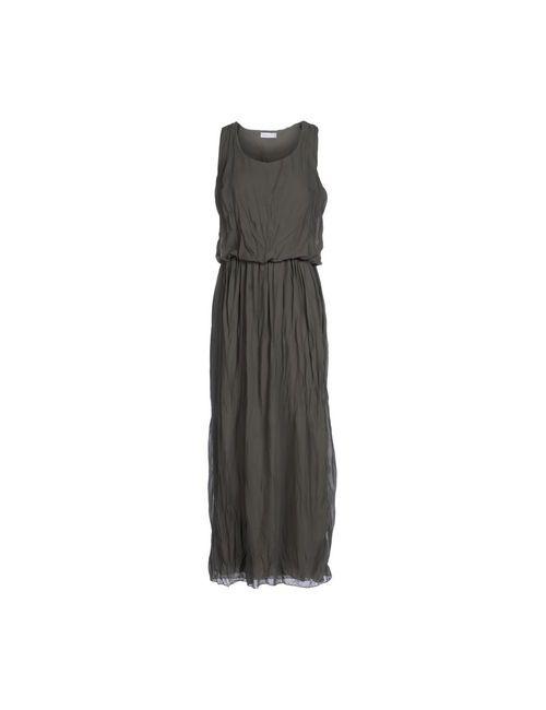 Pour Moi | Женское Зелёное Длинное Платье