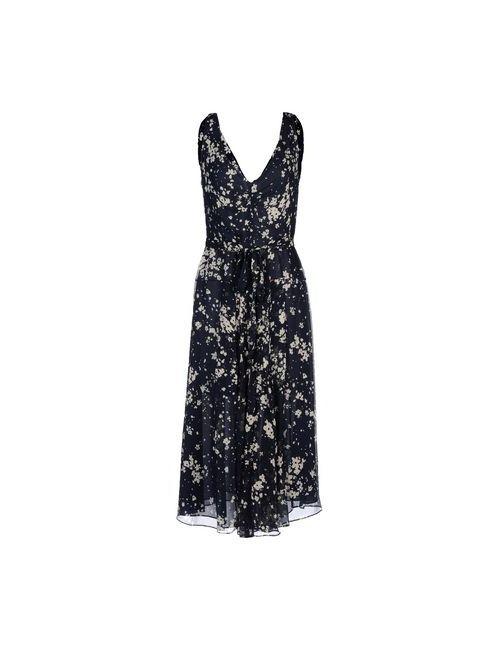 Burberry Brit | Женское Синее Платье Длиной 3/4