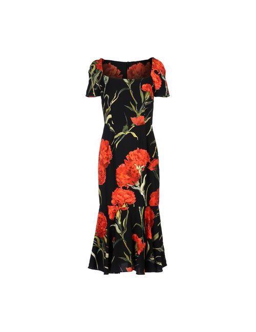 Dolce & Gabbana | Женское Чёрное Платье До Колена