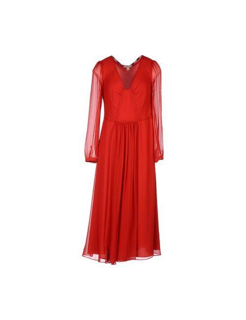 Burberry Brit | Женское Красное Платье До Колена