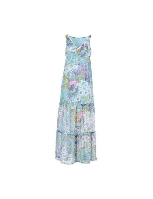 LUCKY LU  MILANO | Женское Бирюзовое Длинное Платье
