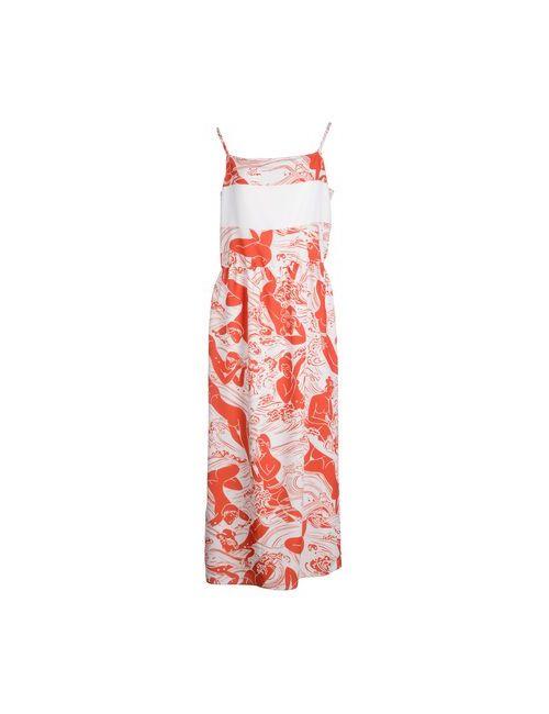 Carven   Женское Белое Длинное Платье