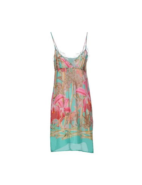 Vdp Beach | Женское Бирюзовое Платье До Колена