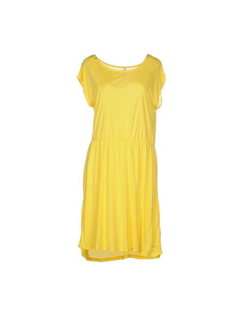 Sun 68 | Женское Жёлтое Платье До Колена