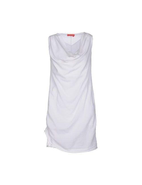 Manila Grace Denim   Женское Белое Короткое Платье