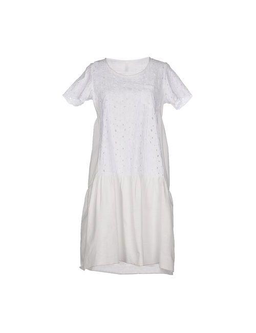 Aglini | Женское Белое Короткое Платье