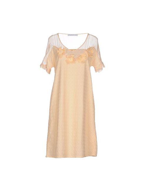 La Fabbrica Del Lino | Женское Абрикосовое Короткое Платье