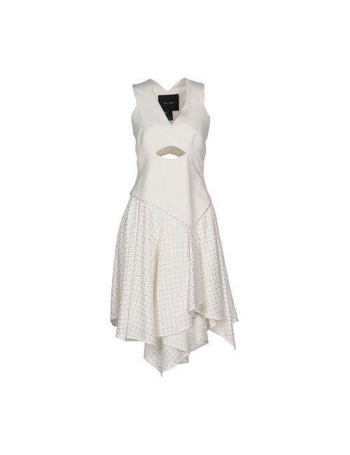 Jay Ahr | Женское Белое Платье До Колена