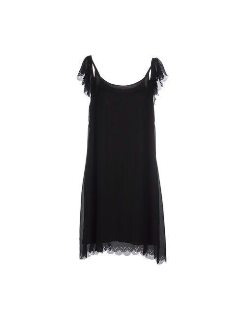 SOALLURE | Женское Чёрное Платье До Колена