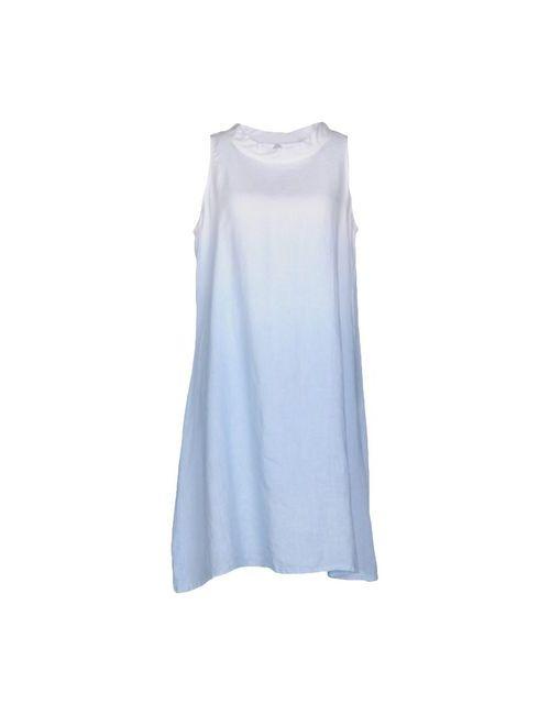 La Fabbrica Del Lino   Женское Голубое Короткое Платье