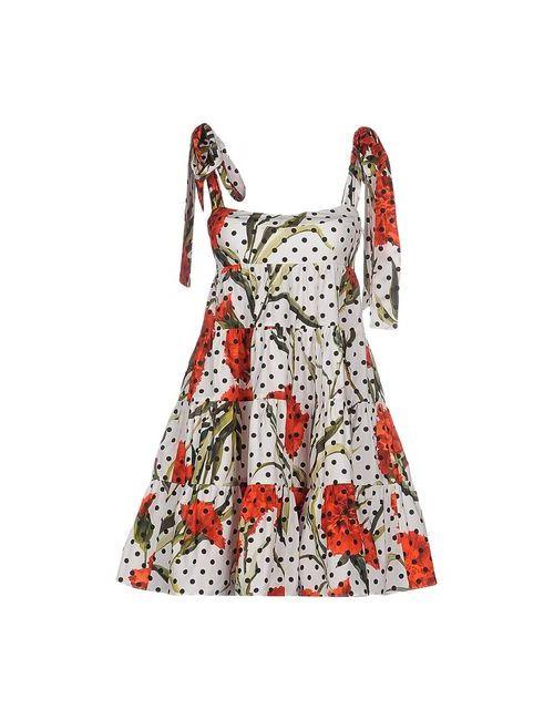 Dolce & Gabbana | Женское Белое Короткое Платье