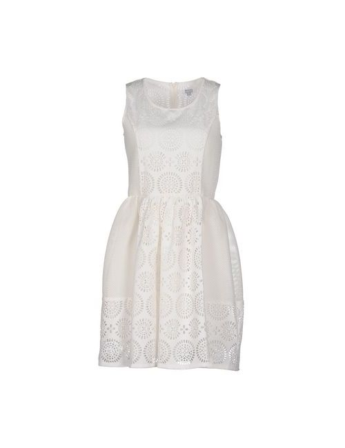 Brigitte Bardot   Женское Белое Короткое Платье