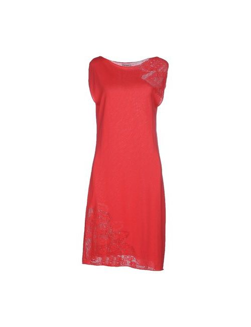 Kangra Cashmere | Женское Розовое Платье До Колена