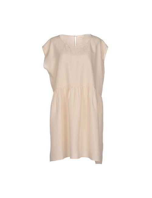 Des Petits Hauts   Женское Песочное Короткое Платье