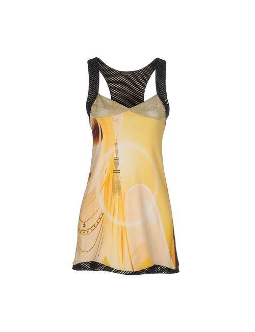 Custo Barcelona | Женское Жёлтое Короткое Платье