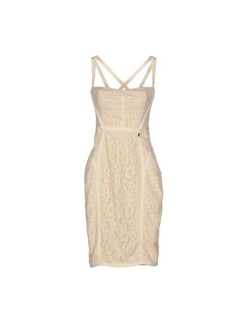 ELISABETTA FRANCHI | Женское Бежевое Платье До Колена