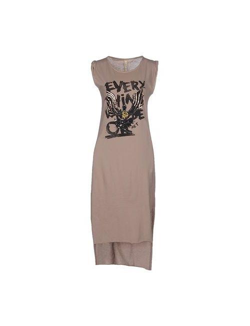 MET | Женское Хаки Платье До Колена